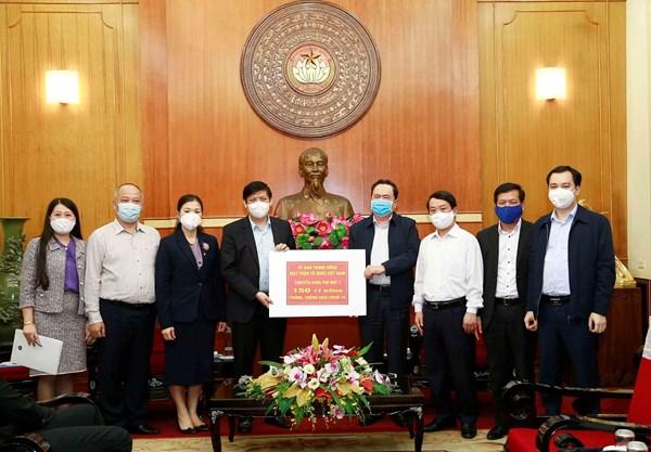 Mặt trận Trung ương phân bổ 150 tỷ đồng để Bộ Y tế phòng, chống dịch Covid-19