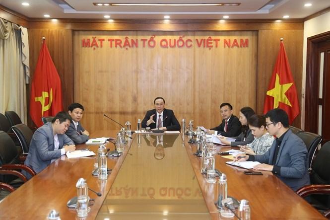 Trao đổi trực tuyến về kinh nghiệm phòng, chống dịch Covid-19 giữa MTTQ Việt Nam và Hàn Quốc