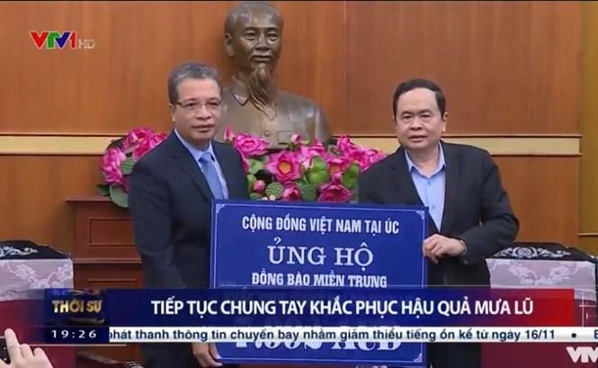 Thông qua MTTQ Việt Nam, nhiều tấm lòng hảo tâm tiếp tục chung tay ủng hộ đồng bào miền Trung